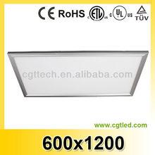 2014 UL 54w 72w 95w 600x1200mm square led ceiling panel light