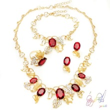 Charming wholesale attractive jewelry set/ good quality African best costume jewelry set