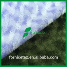 100% polyester rose/rosette swirl minky fabric cuddle velboa pv plush fabric