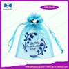 Customized fashion organza pouch with heat transfer logo