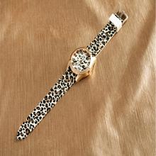 Leopard classic rhinestones crystal silicon dress watch woman lady fashion Hot Selling