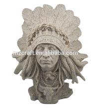 Factory direct resin Figurine Indian men statue sandstone crafts 12254