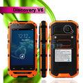 Descubrimiento v6 ram 512 4gb rom de doble núcleo impermeable china android 4.2 ipro teléfono celular