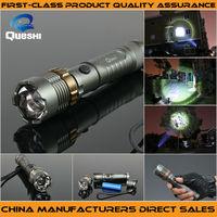 Queshi 2014 New Designed 7W 300LM Mini CREE LED Flashlight Torch Adjustable Focus Zoom Light Lamp flashlight