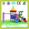 Guangzhou factory kids indoor outdoor playground, kid plastic play house slide, school yard slide JMQ-B010