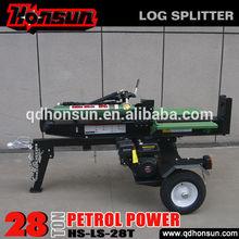 Professional China manufacturer Honda Lifan configuration optional screw type best 28tonne petrol log splitter