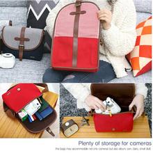 welcome custom canvas digital camera bag with single shoulder strap