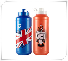 2014 New Designed Sport Water Bottle Promotional Logo Printed Eco-friendly Sports Plastic Water Bottle Beautiful Blue Color