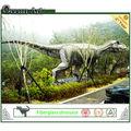 Vida de tamanho de fibra de vidro modelo de dinossauro- dinossauro rei t-rex