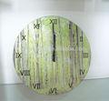 temperado relógio de parede conjunto com padrão floresta