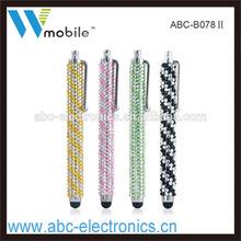 Handmade New Fashion Bling stylus pen for iphone ipad ipod samsung htc oppo