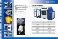 automatic winding machine for pp flat/raffia/string/thread tape yarn winder Email:ropenet16@ropeking.com/skype:Vicky.xu813