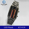 black metal band watches led watch womens 3ATM waterproof