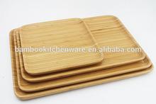 Eco- amichevole di bambù rettangolo cena piatti/piatti