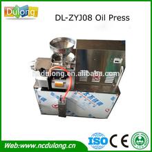 Production 10kg oil/hour cold type olive oil press machine DL-ZYJ08