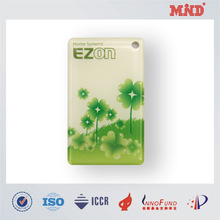 MDC0022 Rectangle Shaped Promotional Plastic eopxy key tag manufacturer