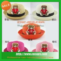 infant straw hat boader hat crochet