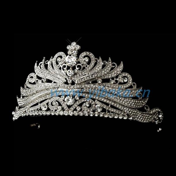 تيجان ملكية  امبراطورية فاخرة Rhinestone_Princess_Tiara_Comb_Crown_frozen_crown