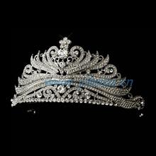 Rhinestone Princess Tiara Comb Crown frozen crown shaped decoration flower girl tiaraFC800389