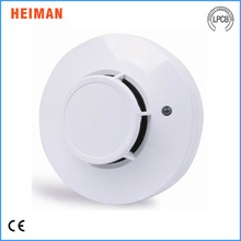 DC 9-35V Conventional optical 2 wire network Hard wired smoke detector with MCU and Remote LED indicator(EN54-7,UL268)