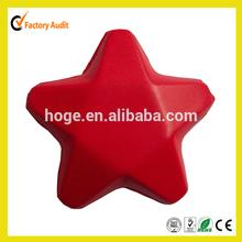 Star shape pu stress ball for promotioal