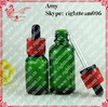 Glass vial 15ml with red childp and tamperproof cap glass dropper