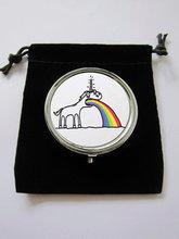 Vomiting unicorn rainbow fantasy trinket novelty plastic pill box