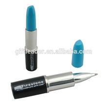 Plastic Lipstick Shaped Ballpoint Pen