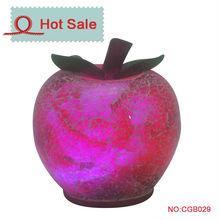2015 new apple LED glass ball light with Santa inside