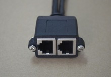 RJ45 Male plug to 2 dual RJ45 Female jack Y splitter Hub adapter Cable