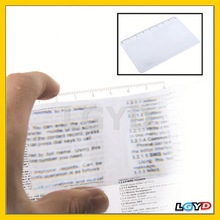 2014 Fashion 3X Credit Card Design Fresnel Lens Magnifier with 8cm Length Scale