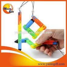 Novelty Plastic foldable pen use as keychain