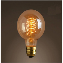 Retro design and highly decorative G95 spiral vintage bulbs