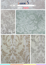 numerous in variety Top quality black and white wallpaper PVC wallpaper