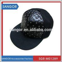 High quality creative marijuana leaf embroidery snapback hat