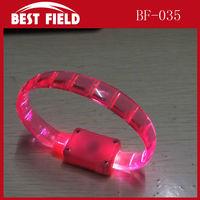 Soft led promotional Flashing Bracelets