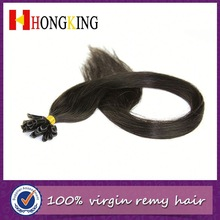 Long Thin Grizzly Rooster Feather Hair Extension Black