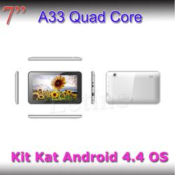 "shenzhen super slim tablet 7"" MID Allwinner A33 quad core 7"" tablet 4GB snart tablet"