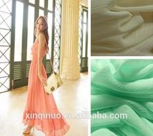 High quality chiffon 100% Polyester chiffon ruffled fabric for dress