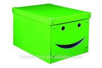 Smile design metal corner green CD/DVD paper storage box