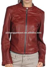 Snap Fastened Women Leather Bomber Jacket 2014 NEW!!
