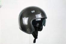 Open face,one shell motorcycle helmet