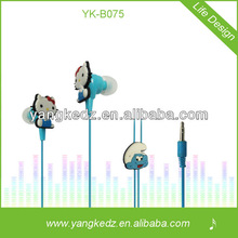 portable various colorful cartoon earphone enjoy music and life