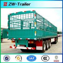 hot sale live stock anminal CARGO TRANSPORT 3 axles truck stake semi trailer / fence semitrailer