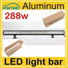 Aluminum housing 288w cree led bar dual row straight led light bar
