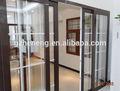 Venta al por mayor puerta corredera de pvc decoradas con mesas/puertas correderas de cristal