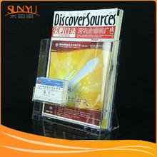 Top quality acrylic brochure file holder plastic