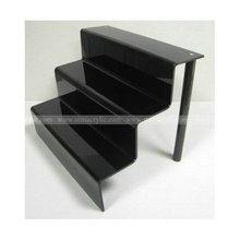 3 step Black acrylic nail polish display riser, 3 Step Black Acrylic Display Stand Jewellery Riser, Black Acrylic 3 Step Riser