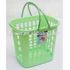 Plastic storage basket, storage basket, laundry basket