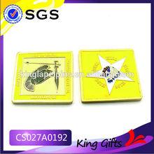 soft enamel/lacquer souvenir coin key rings coin holder 2012 commemorative coin